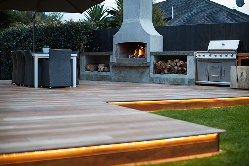 Outdoor fire places Greenhithe Auckland | Branche Landscapes